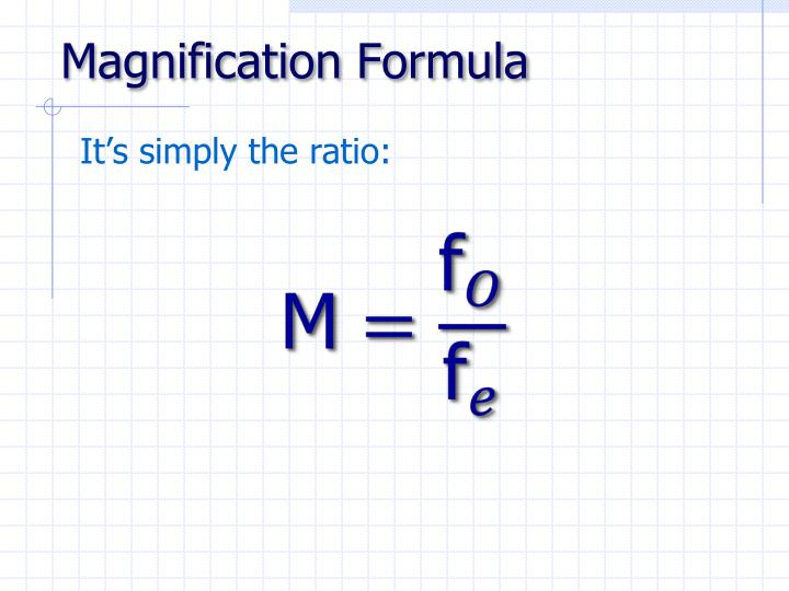 Magnification Formula