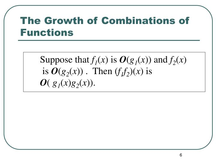 The Growth of Combinations of Functions