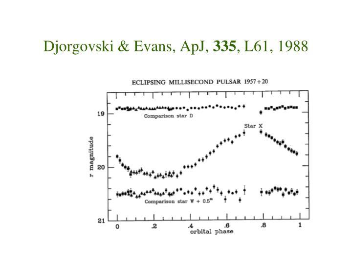 Djorgovski & Evans, ApJ,