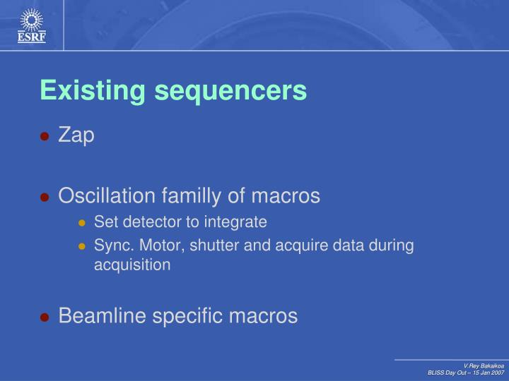 Existing sequencers