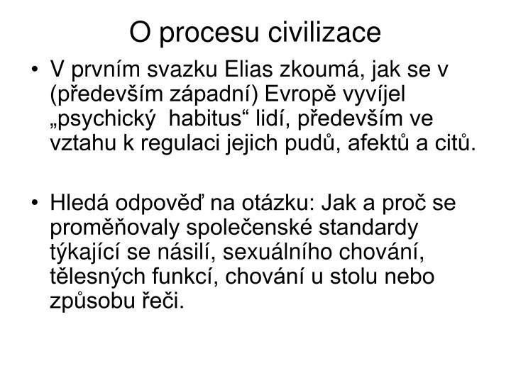 O procesu civilizace