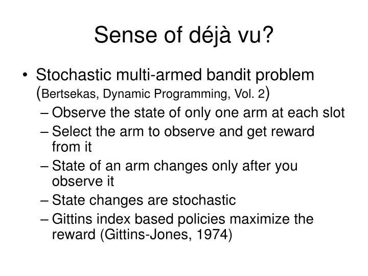 Sense of déjà vu?