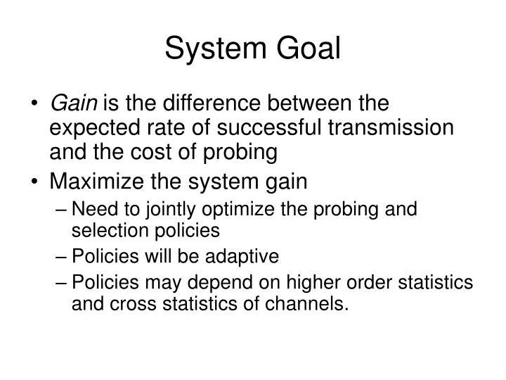 System Goal