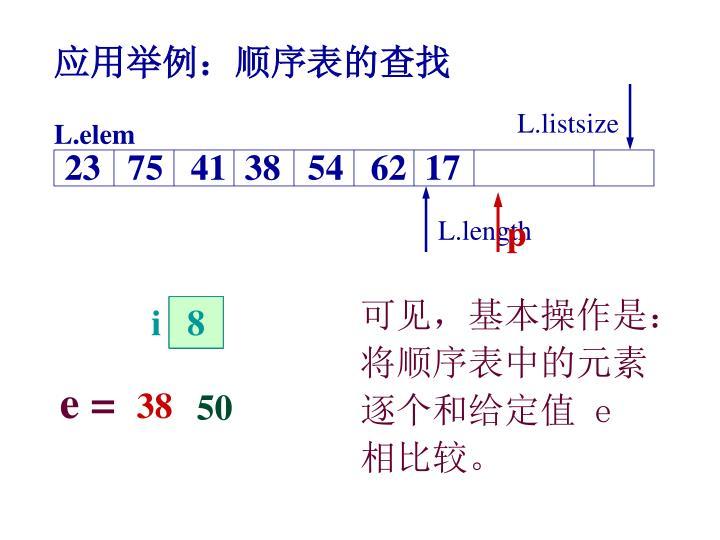 L.listsize
