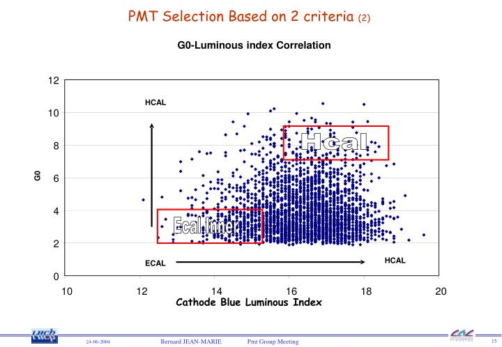 PMT Selection Based on 2 criteria