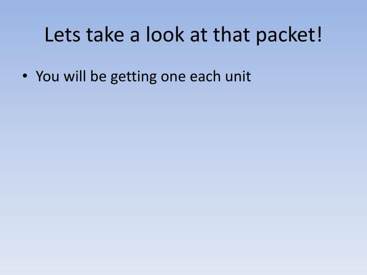 Lets take a look at that packet!