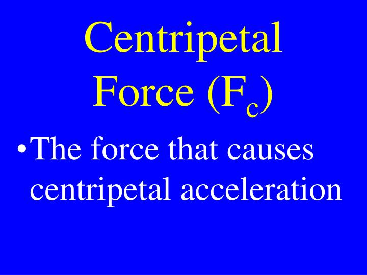 Centripetal Force (F