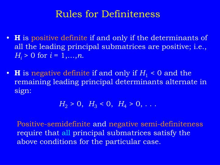 Rules for Definiteness
