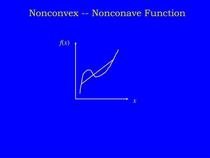 Nonconvex -- Nonconave Function