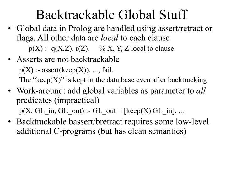 Backtrackable Global Stuff
