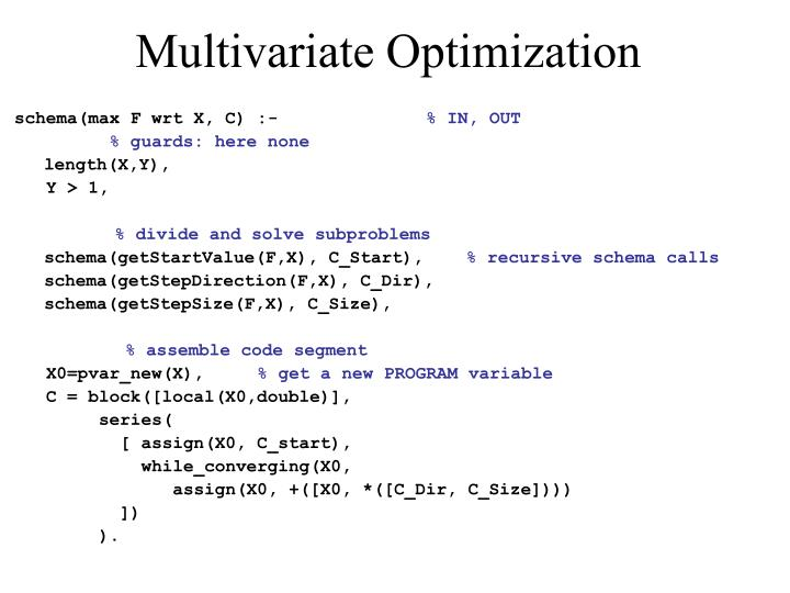 Multivariate Optimization