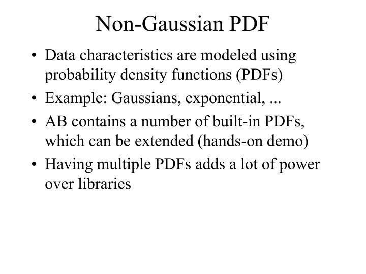 Non-Gaussian PDF