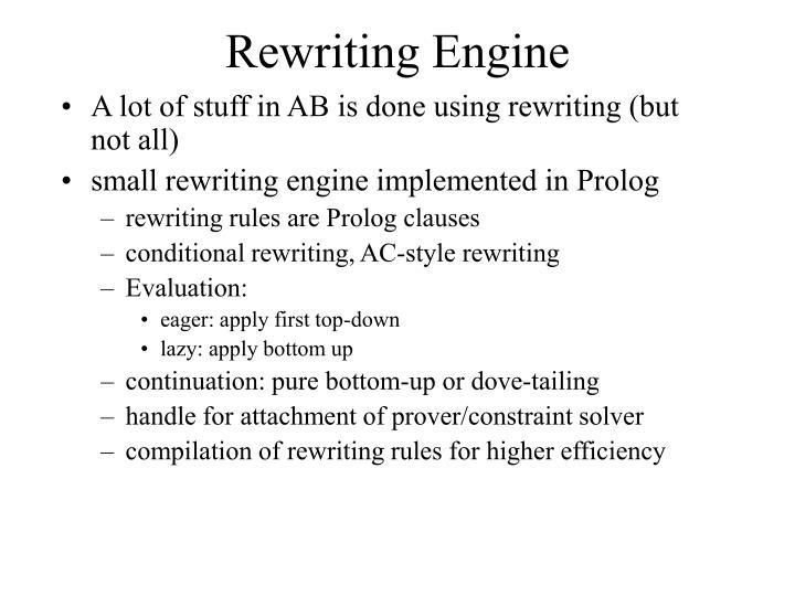 Rewriting Engine