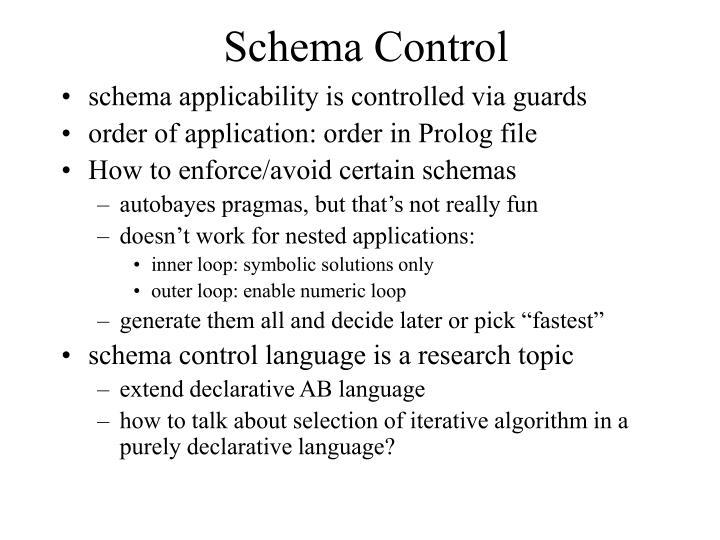 Schema Control