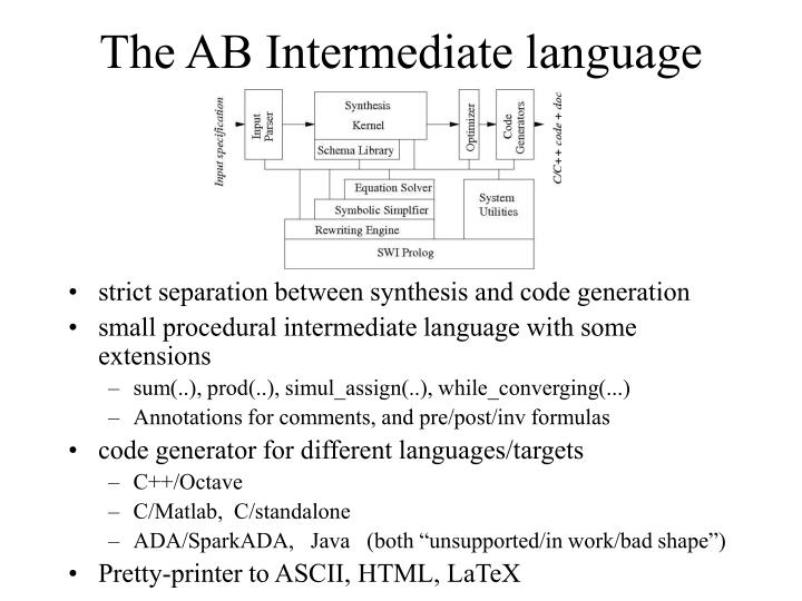 The AB Intermediate language