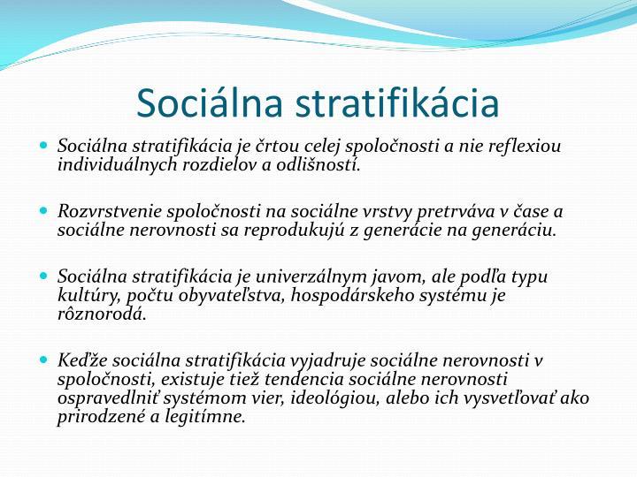 Sociálna stratifikácia