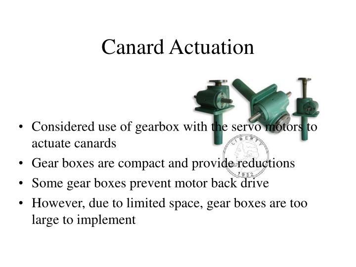 Canard Actuation