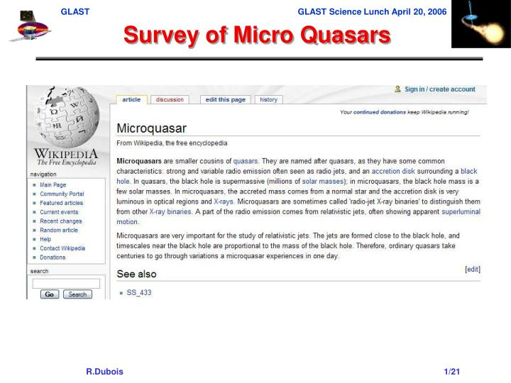 Survey of Micro Quasars