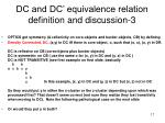 dc and dc equivalence relation definition and discussion 3