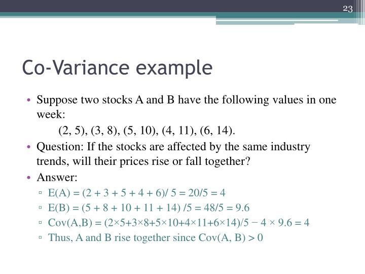 Co-Variance example
