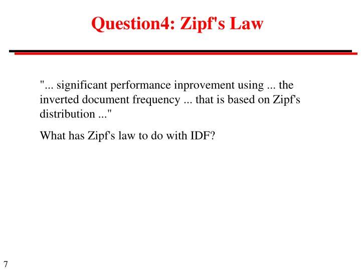 Question4: Zipf's Law