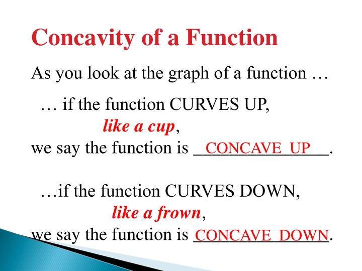 Concavity of a Function