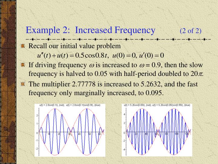 Example 2:  Increased Frequency