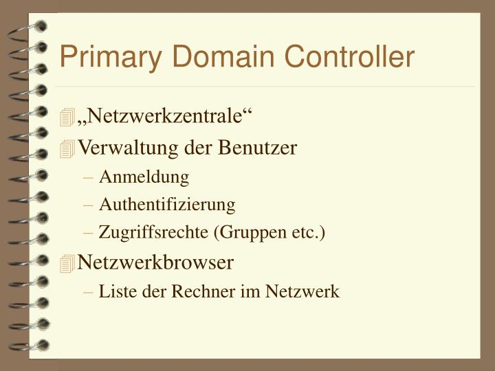 Primary Domain Controller