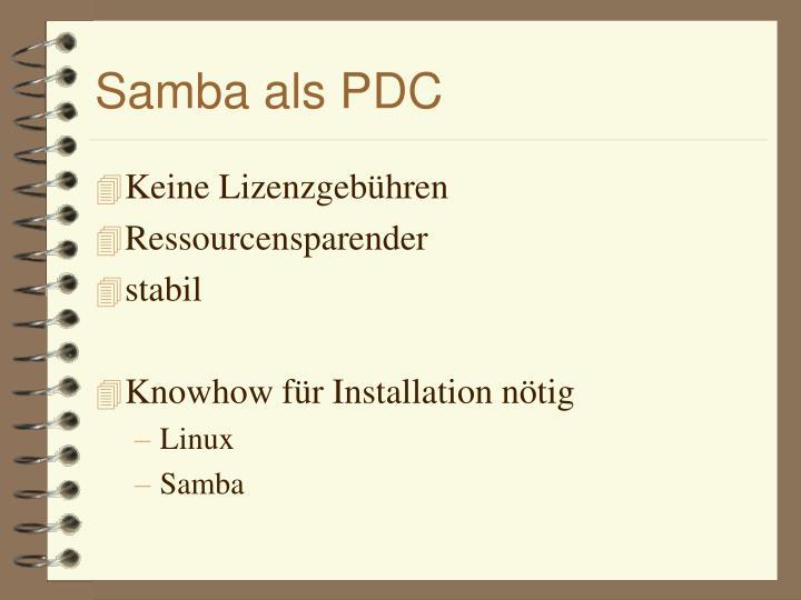 Samba als PDC