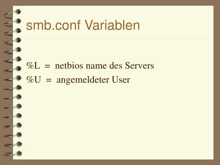 smb.conf Variablen