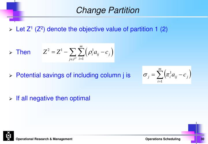 Change Partition