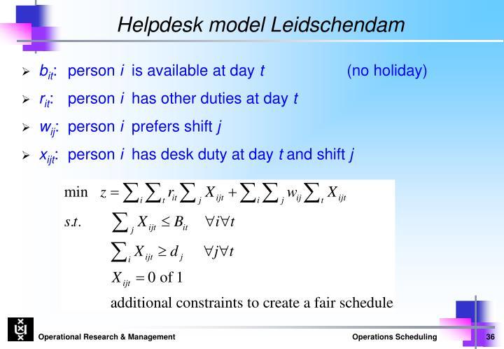 Helpdesk model Leidschendam
