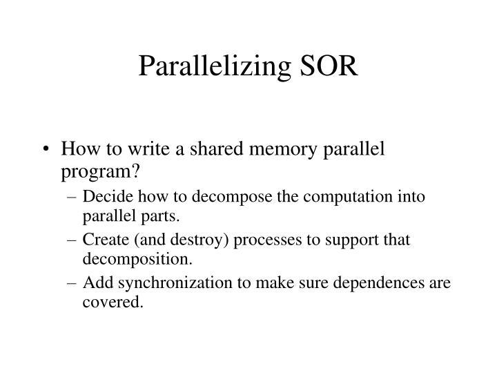 Parallelizing SOR