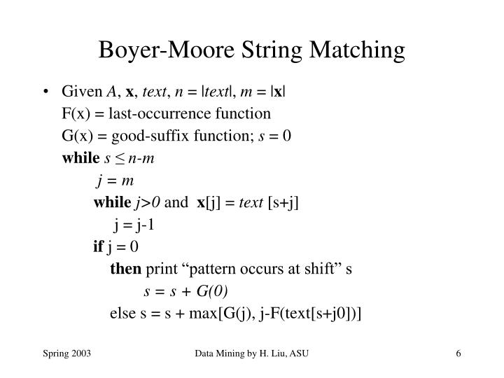 Boyer-Moore String Matching