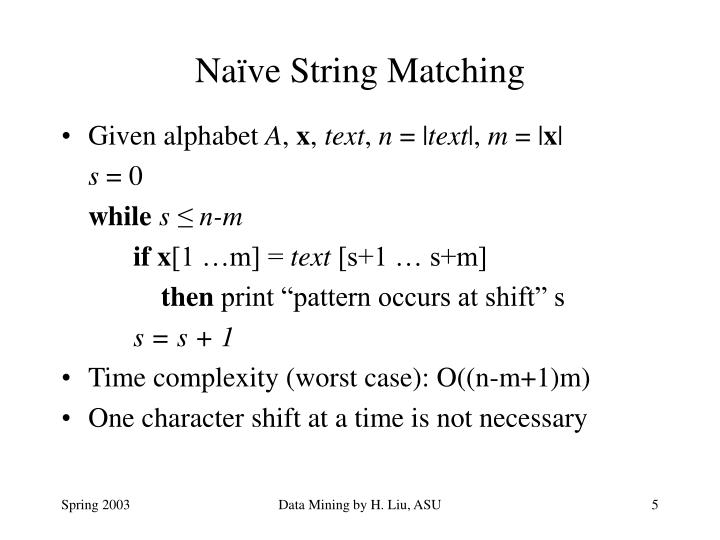 Naïve String Matching