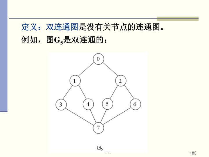 定义:双连通图