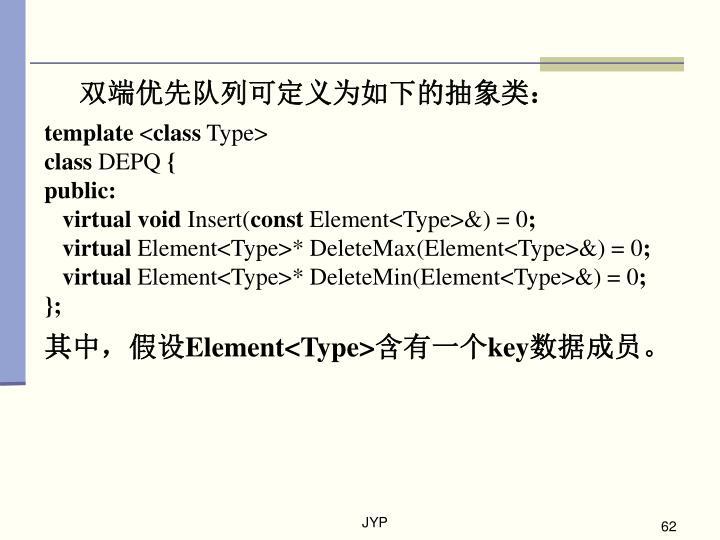 双端优先队列可定义为如下的抽象类: