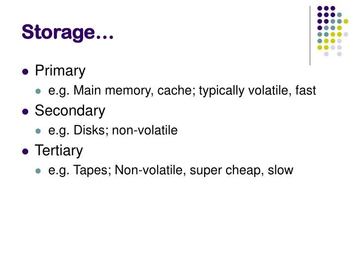 Storage…