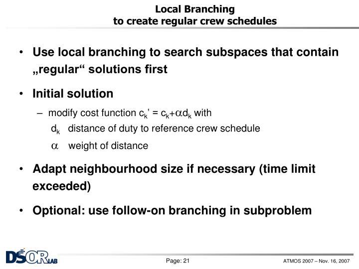Local Branching