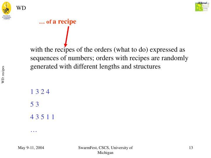 WD: recipes