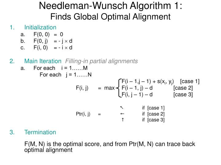 Needleman-Wunsch Algorithm 1: