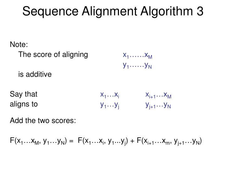Sequence Alignment Algorithm 3