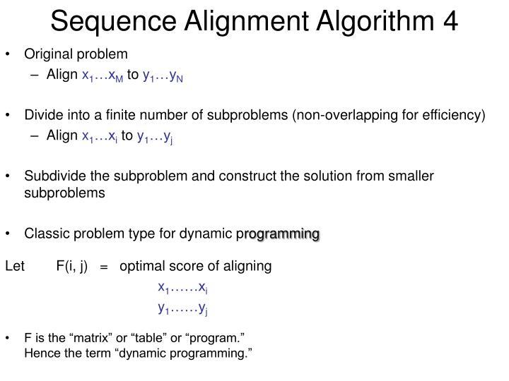Sequence Alignment Algorithm 4