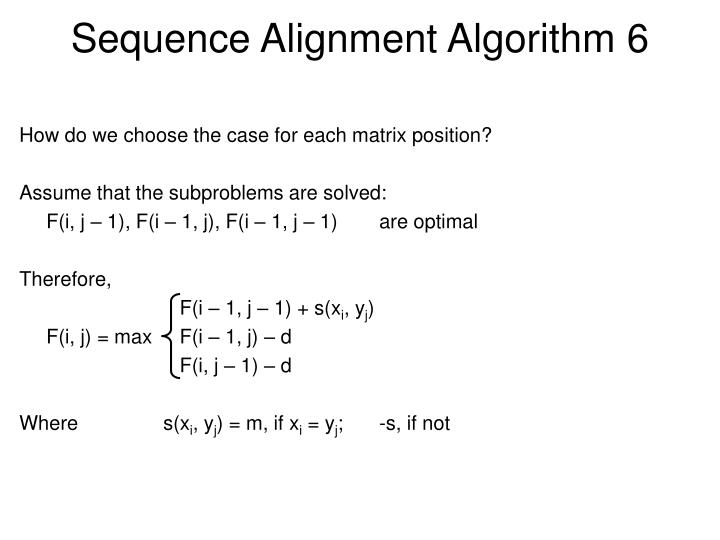 Sequence Alignment Algorithm 6