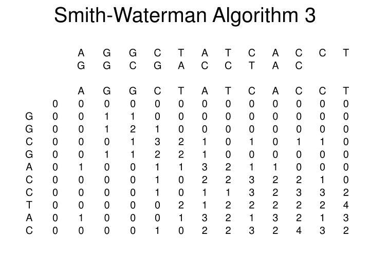 Smith-Waterman Algorithm 3