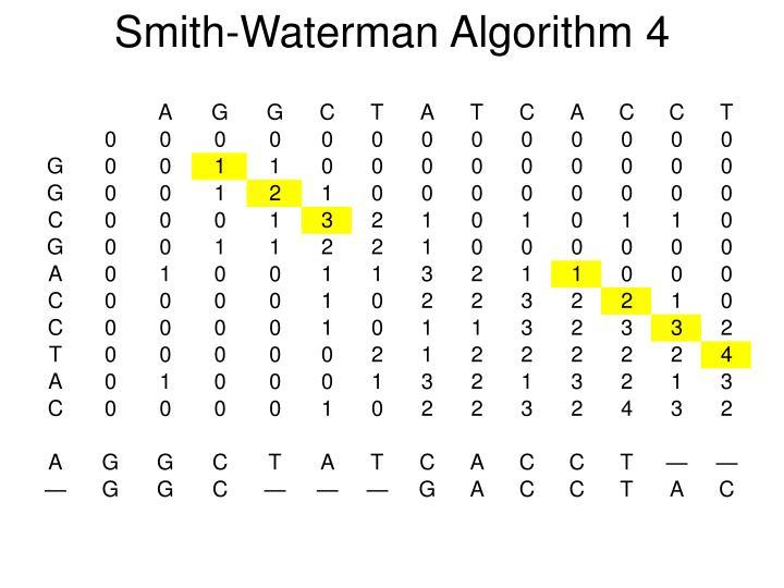 Smith-Waterman Algorithm 4