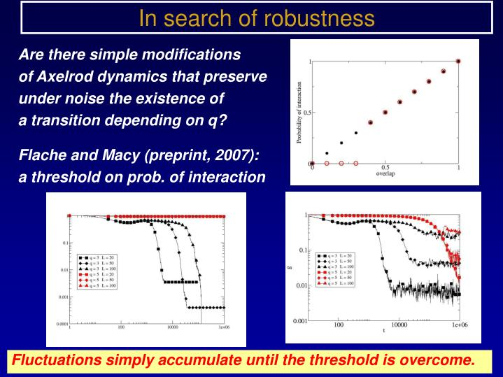 In search of robustness