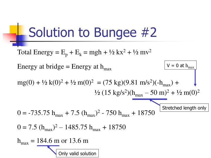 Solution to Bungee #2
