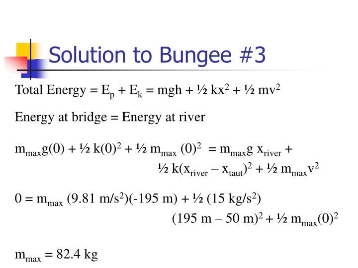 Solution to Bungee #3