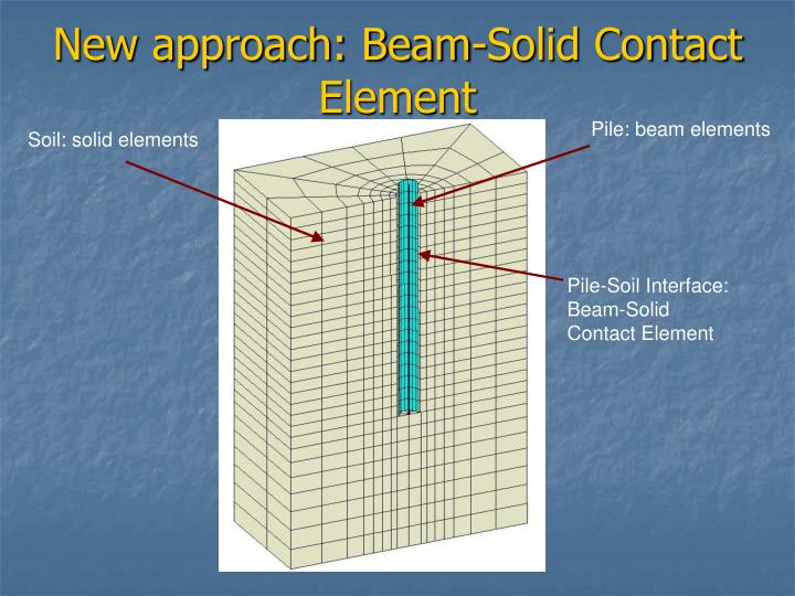 New approach: Beam-Solid Contact Element